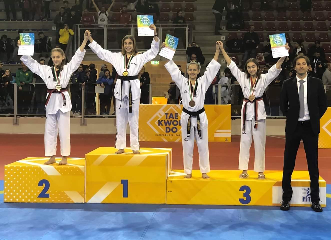 taekwondo-flavia-macchione-l-orgoglio-della-fenice-cintura-nera-a-riccione-nei-campionati-italiani